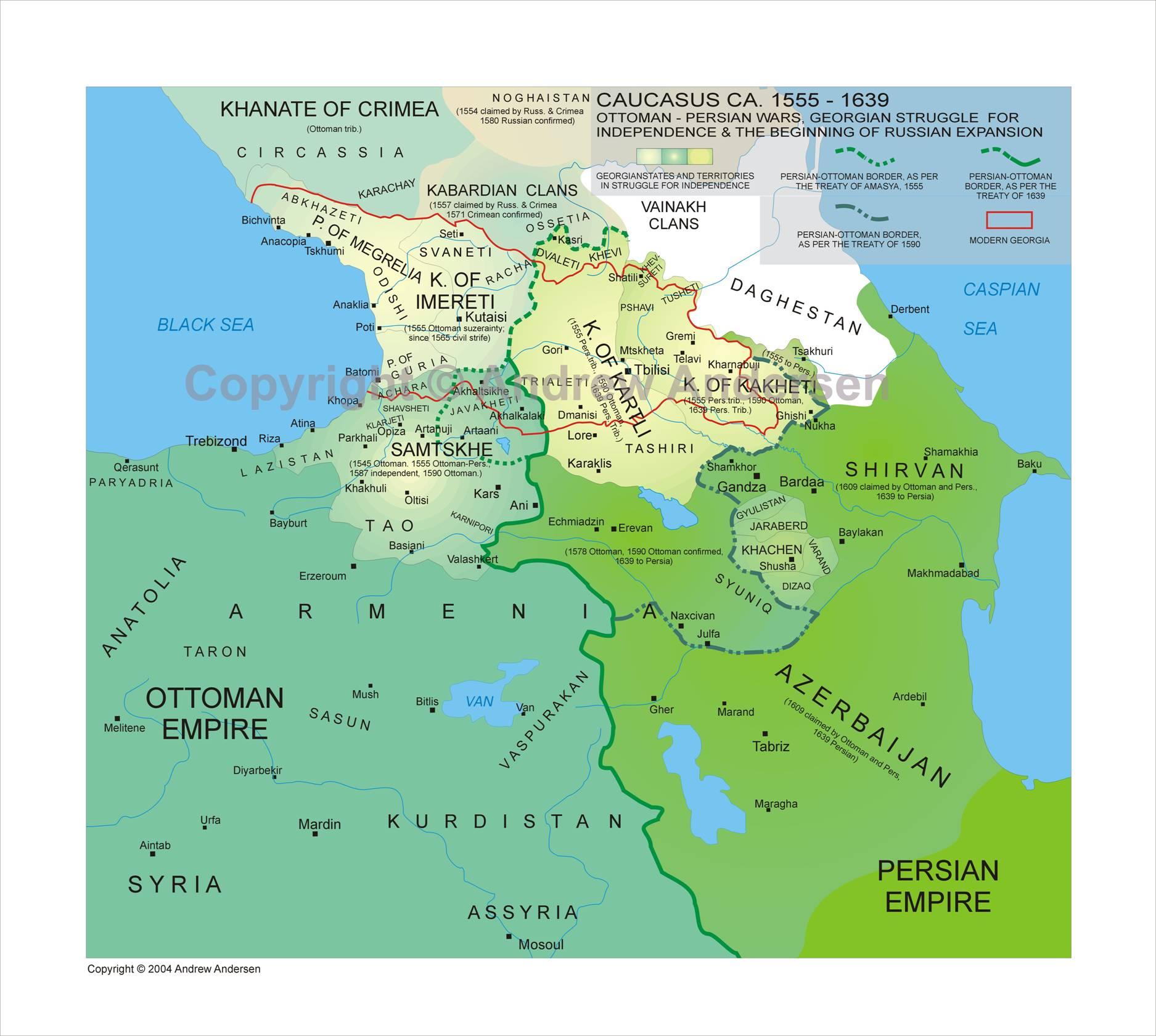 Iveria - Abkhazia map black sea
