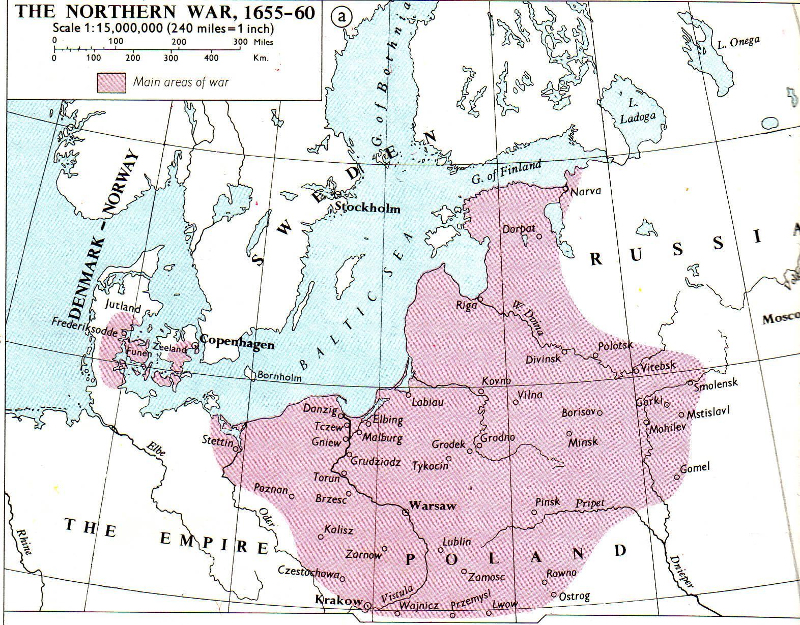 PolishSwedish Wars - Sweden russia map