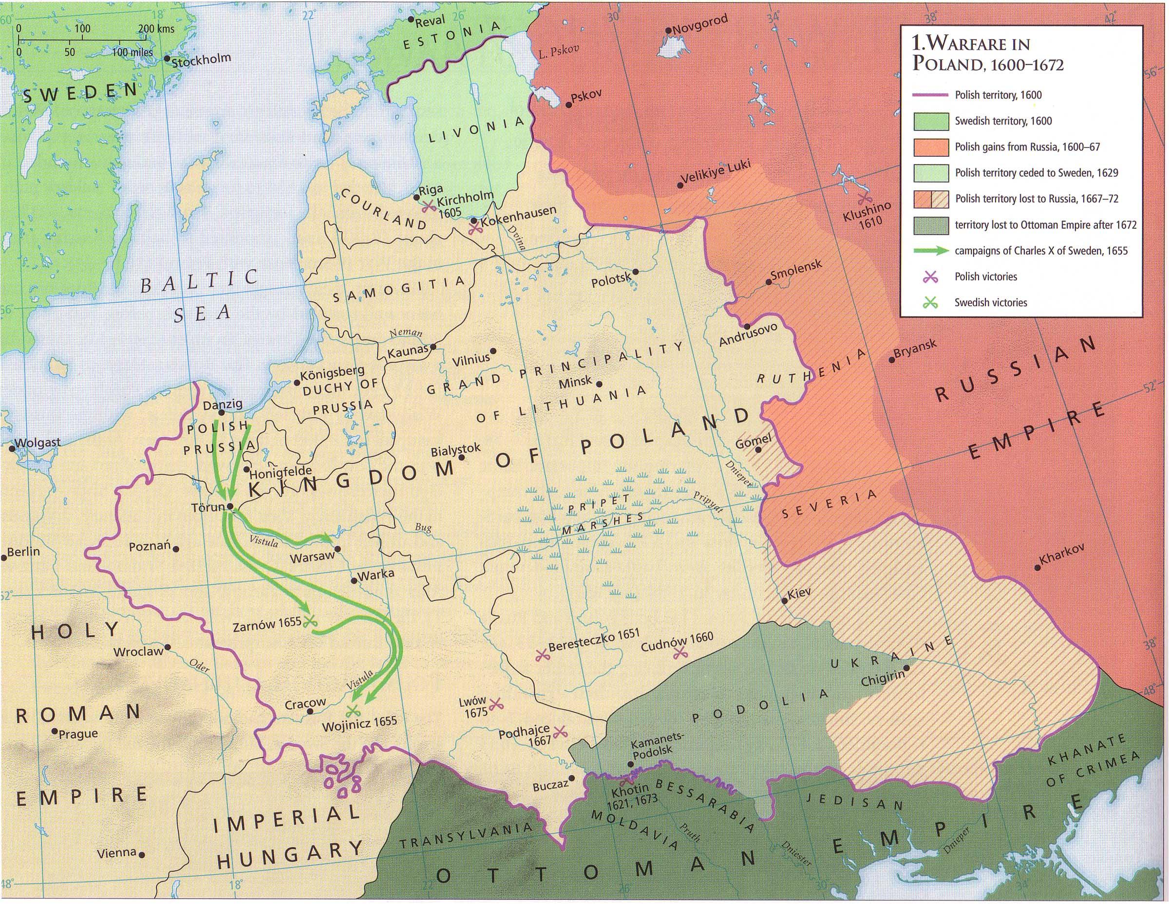 PolishSwedish Wars - Sweden map 1600