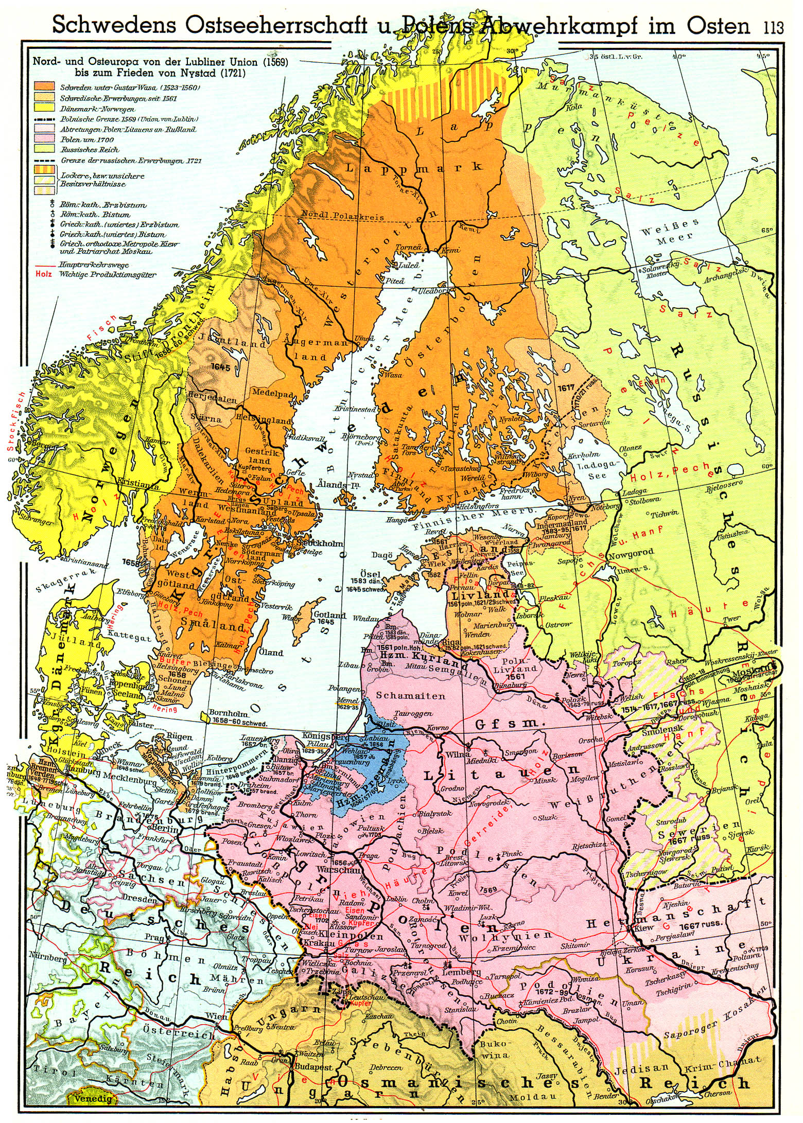 The Swedish Empire In The Baltic Nations - Map germany thirty years war