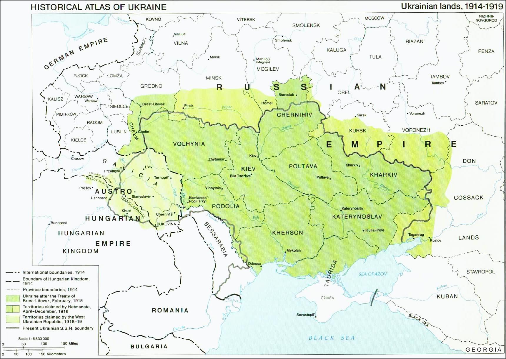 Historical Maps of Ukraine