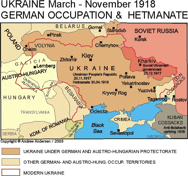 ukraine march november 1918 german occupation hetmanate