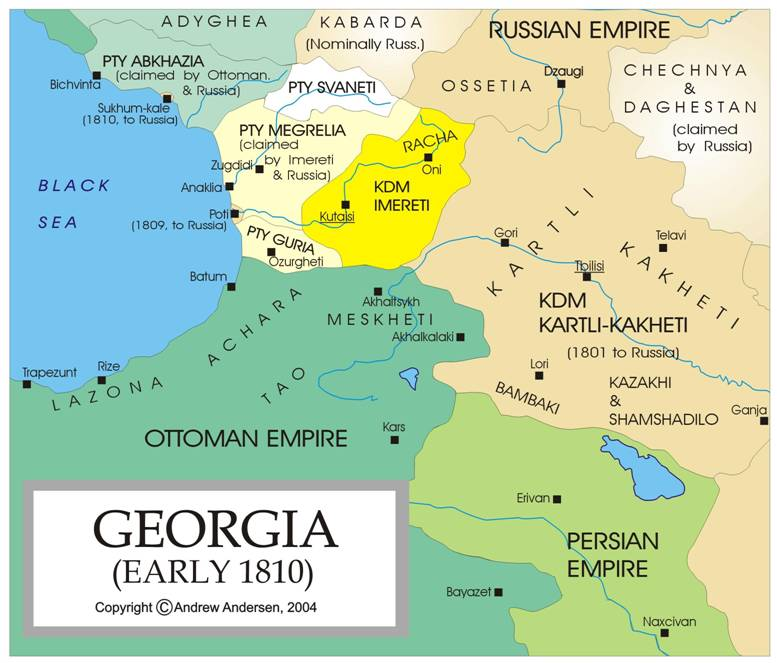 WESTERN GEORGIA INTERNATIONAL - Georgia kakheti map