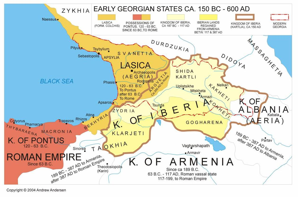 Abkhazia Middle Ages Map